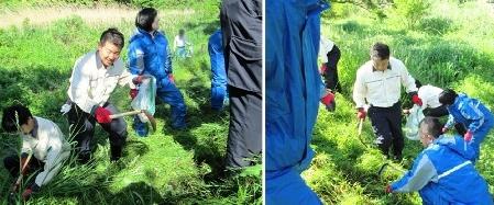 いわき:河川敷の除草・清掃活動に参加しました